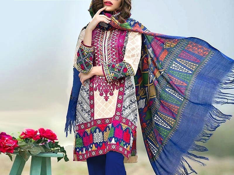 Heavy Embroidered Lawn Suit