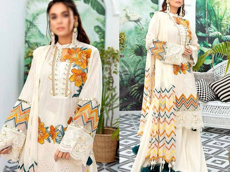 Images for Luxury Schiffli Embroidered Lawn Dress