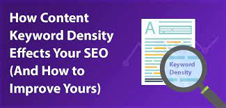keyword density can in any case be a valuable measurement